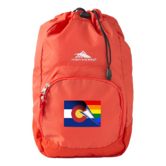 Colorado Flag Gay Pride Rainbow Flag Backpack