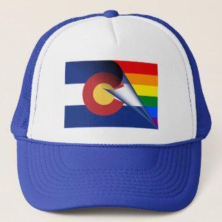 Colorado Flag Gay Pride Rainbow Trucker Hat