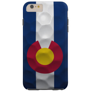 Colorado Flag Golf Ball Pattern Tough iPhone 6 Plus Case