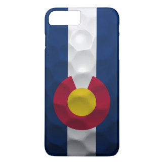 Colorado Flag Golf Ball Pattern iPhone 7 Plus Case
