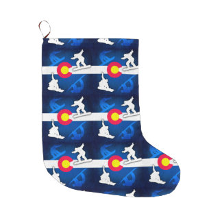 Colorado flag grunge snowboarder holiday stocking