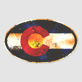 Colorado Flag Grunge Sticker