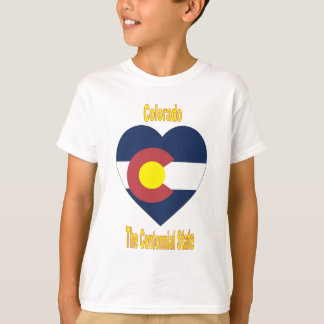 Colorado Flag Heart T-Shirt