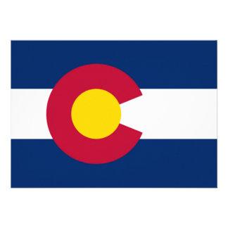 Colorado flag invitations