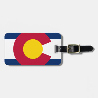 Colorado Flag Logo Luggage Tag