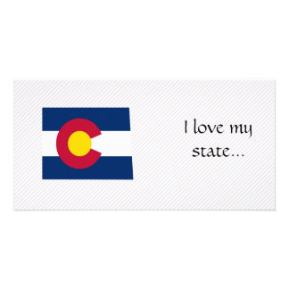 Colorado Flag Map Picture Card