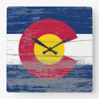 Colorado Flag Old Paint Clock