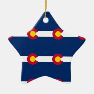 Colorado Flag Pattern Christmas Ornament