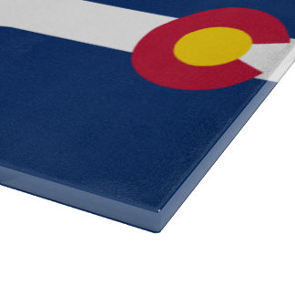 Colorado Flag Pattern Cutting Board
