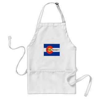Colorado Flag Poudre University Apron