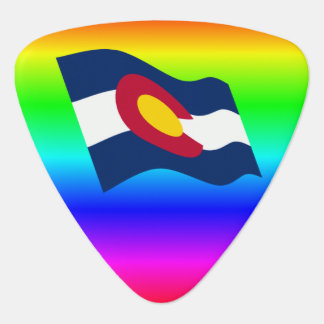 Colorado Flag Rainbow Guitar Pick