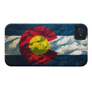 Colorado flag Rock Mountains iPhone 4 Case