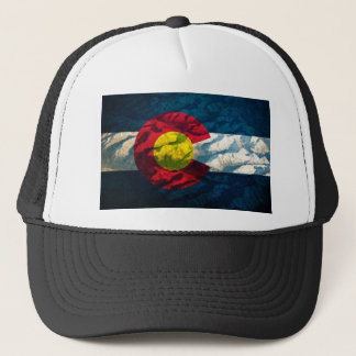 Colorado flag Rock Mountains Trucker Hat