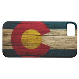 Colorado Flag rustic wood iPhone 5 Cases