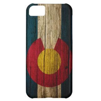 Colorado Flag rustic wood iPhone 5C Case