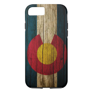 Colorado Flag rustic wood iPhone 8/7 Case