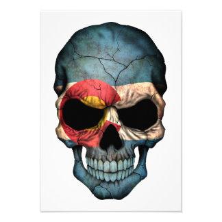 Colorado Flag Skull Custom Invites