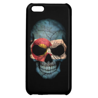 Colorado Flag Skull on Black iPhone 5C Covers