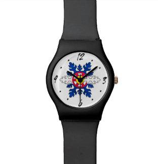 Colorado flag snowflake wrist watch