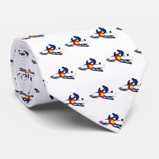 Colorado flag snowmobiler necktie