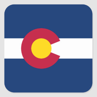 Colorado Flag Square Sticker