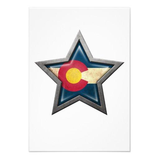Colorado Flag Star Personalized Invite