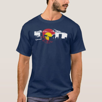 Colorado Flag T-Shirt - Denver Skyline - Rockies