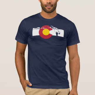 Colorado Flag T-Shirt - Fly Fishing - FlyFish
