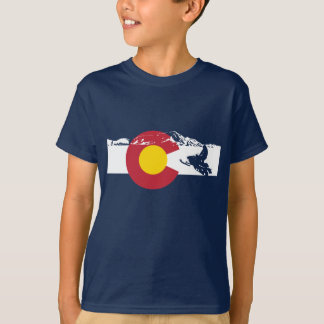 Colorado Flag T-Shirt - Snow Mobile