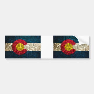 Colorado Flag Tire Tread Bumper Sticker