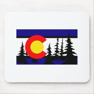 Colorado Flag Tree Silhouette Mouse Pad