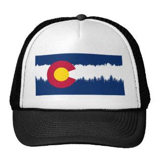 Colorado Flag Treeline Silhouette Cap
