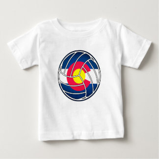 Colorado flag volleyball kids shirt