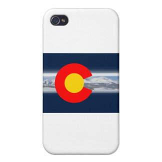 Colorado Flag with Mountains iPhone 4/4S Case