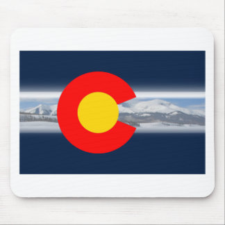 Colorado Flag with Mountains Mouse Pad
