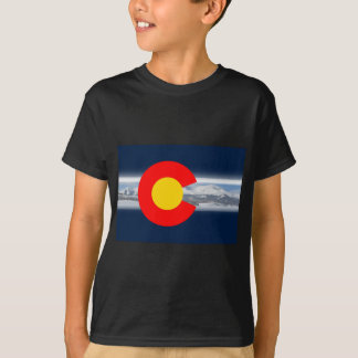 Colorado Flag with Mountains T-Shirt