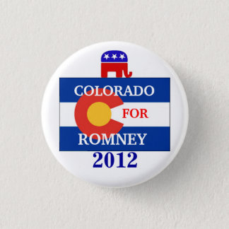 Colorado  for Romney 2012 3 Cm Round Badge