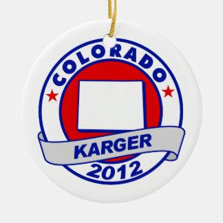Colorado Fred Karger Christmas Ornaments