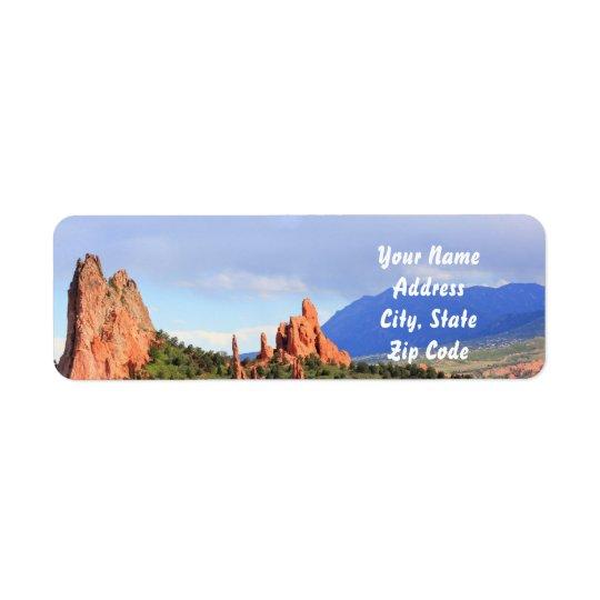 Colorado Garden of the Gods Address labels