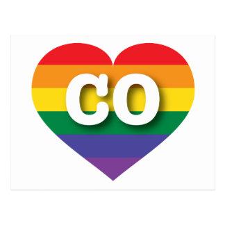 Colorado Gay Pride Rainbow Heart - Big Love Postcard