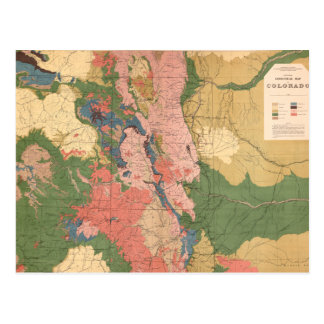 Colorado Geological Map Post Card