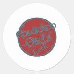 Colorado Girls Rock Round Sticker