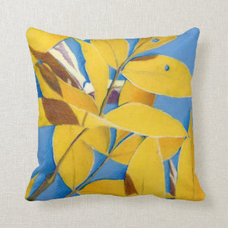Colorado Gold Leaves Drawing Pillow