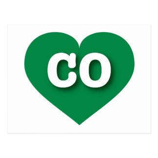 Colorado green heart - Big Love Postcard