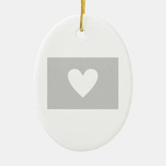 Colorado heart christmas ornament