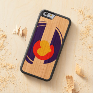 Colorado Heart Flag Carved Cherry iPhone 6 Bumper Case