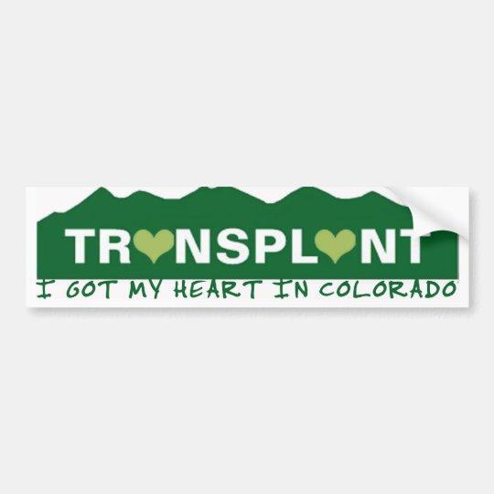 Colorado Heart Transplant Bumper Sticker
