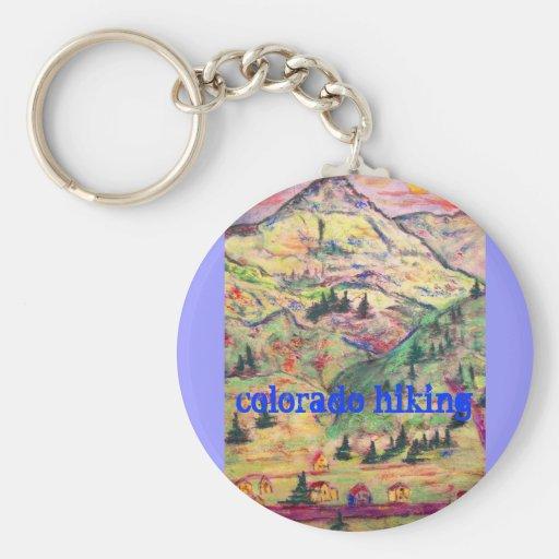 colorado hiking key chains