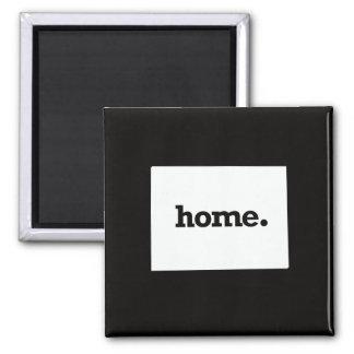 Colorado Home Square Magnet