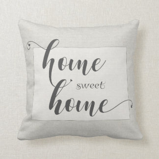 Colorado - Home Sweet Home burlap-look Cushion